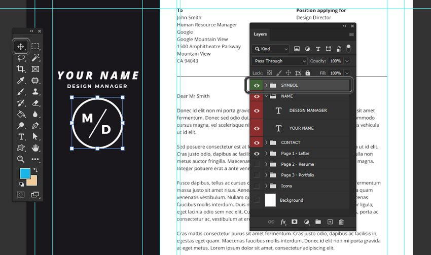 Web Design Resume Template