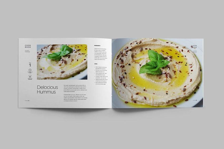 Landscape Cookbook Template InDesign