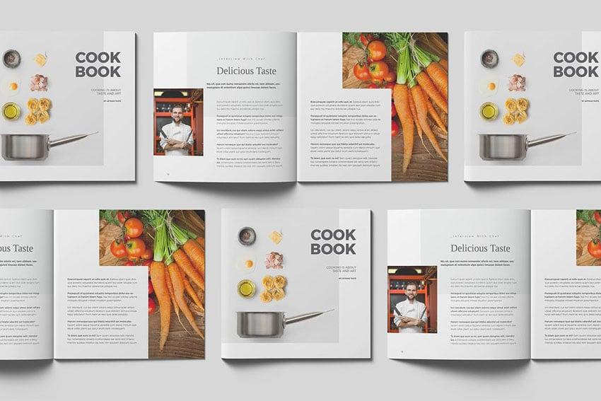 Square Cookbook Design Template
