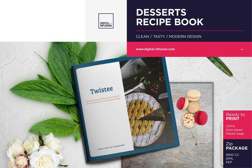 Desserts Recipe Book Template