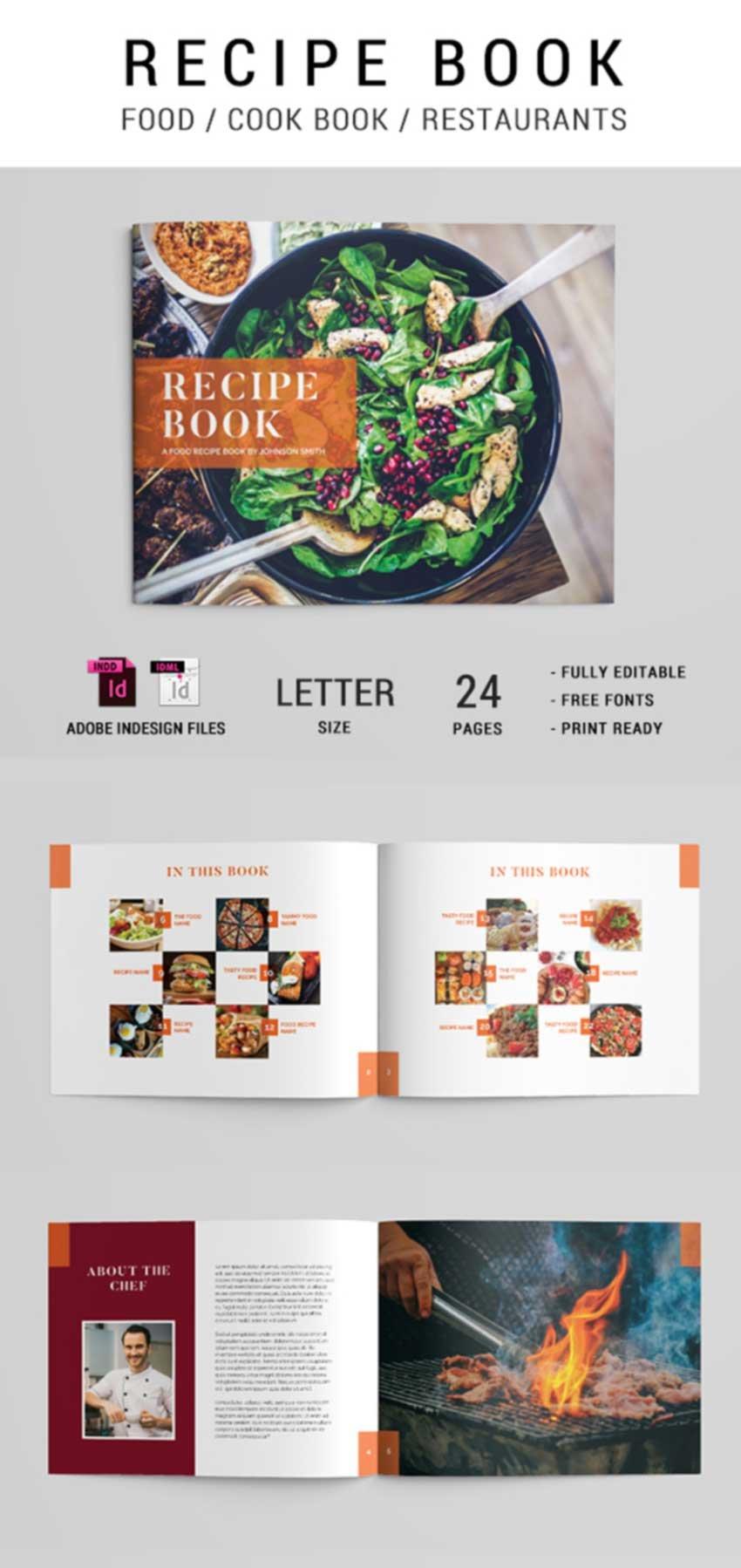 Cook Book Recipe Brochure Template