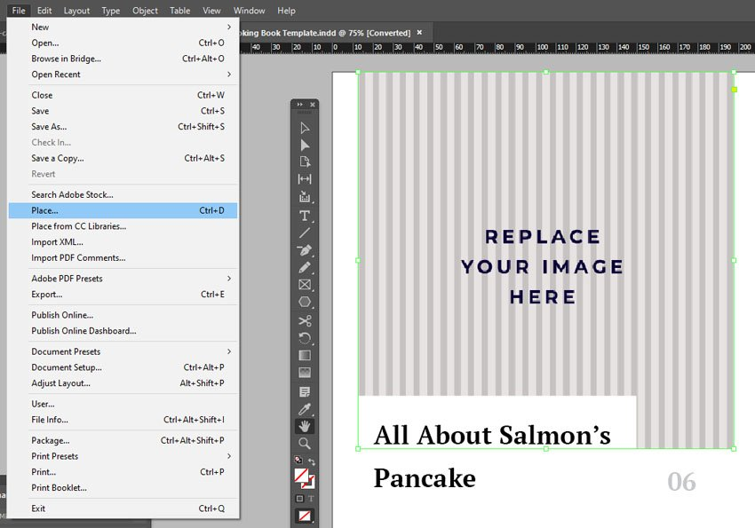 Place Image InDesign