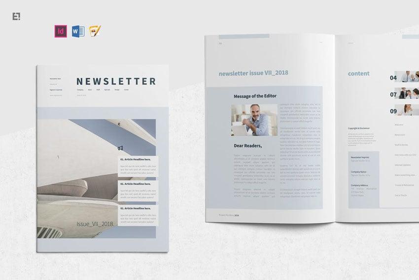 Microsoft Word Newsletter