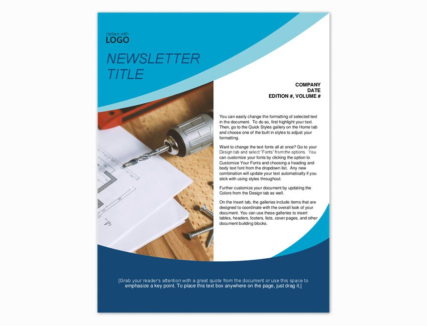 download template newsletter microsoft word free
