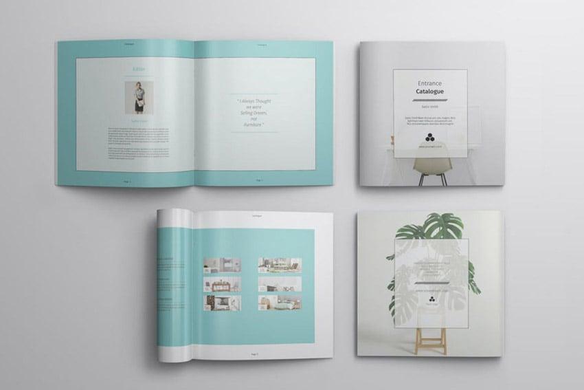 Square Catalogue Template Design