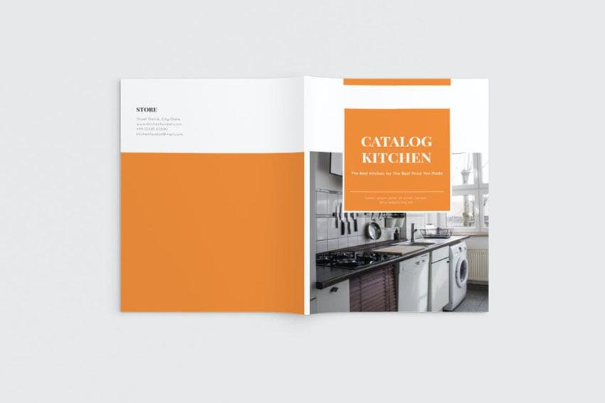 Kitchen Catalog Design Template