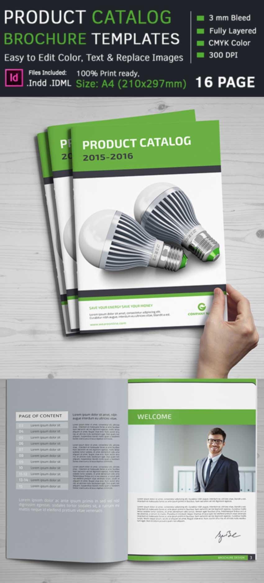 Product Catalog Brochure Templates