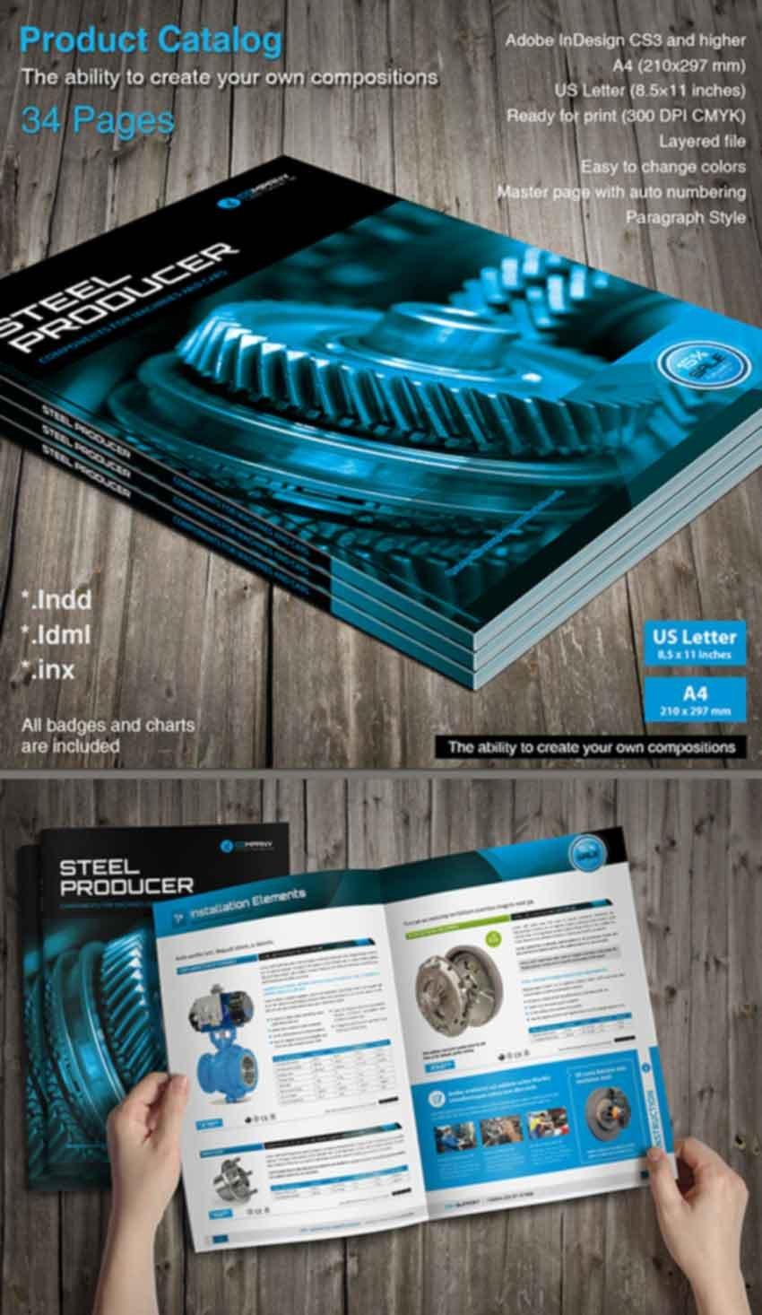 InDesign Product Catalog Design