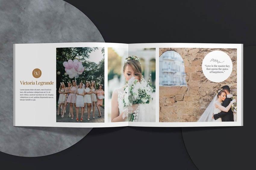 Wedding Photo Book Album Template Design