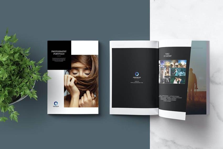 photobook design template