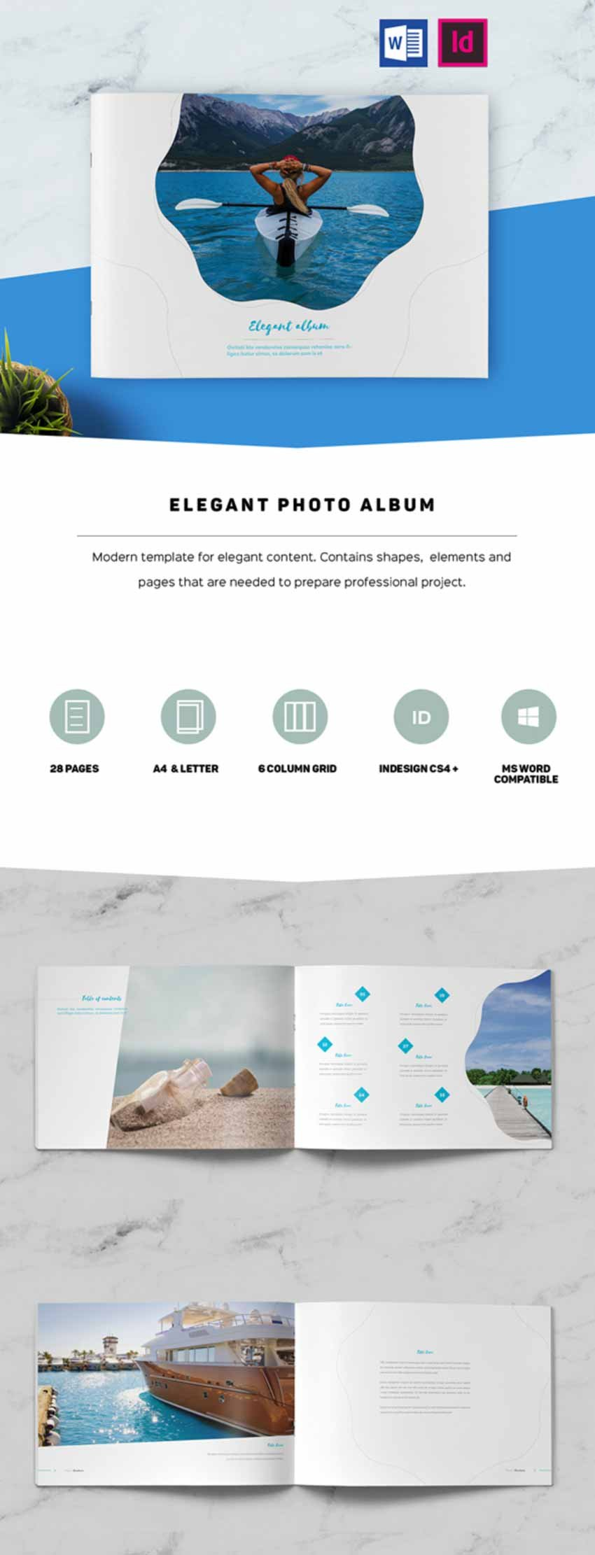 Stylish Photobook Template Design