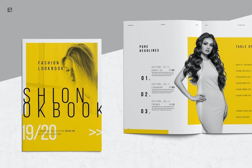Fashion Lookbook Template Design