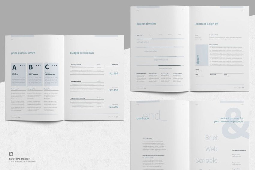 professional proposal design template