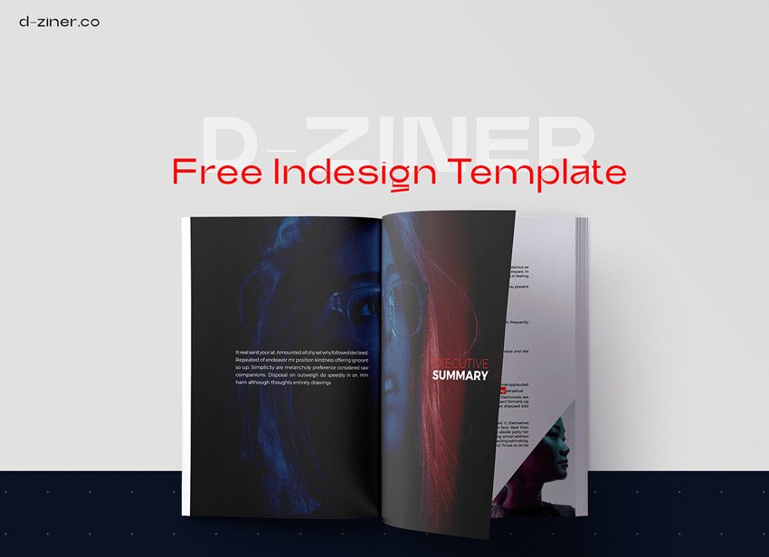 Free InDesign Multi Page Template Layout
