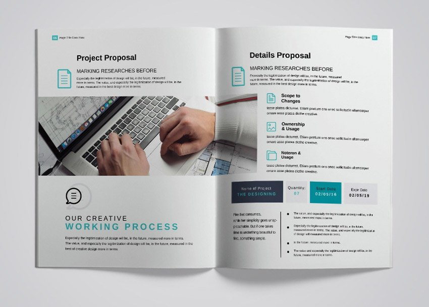 Free Business Proposal Template InDesignFree Business Proposal Template InDesign
