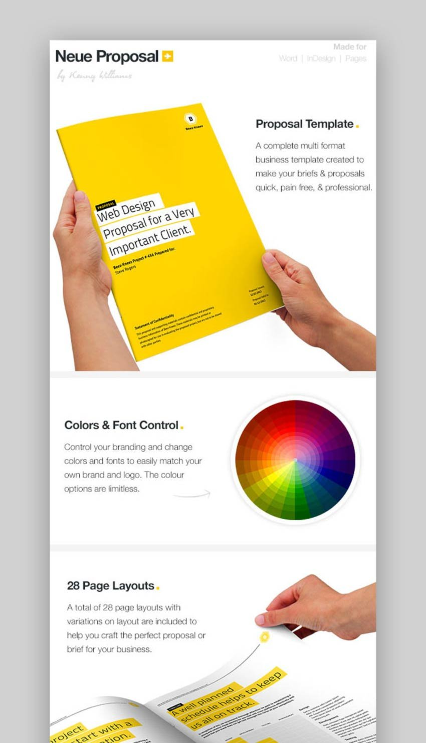 Graphic Design Proposal Template InDesign