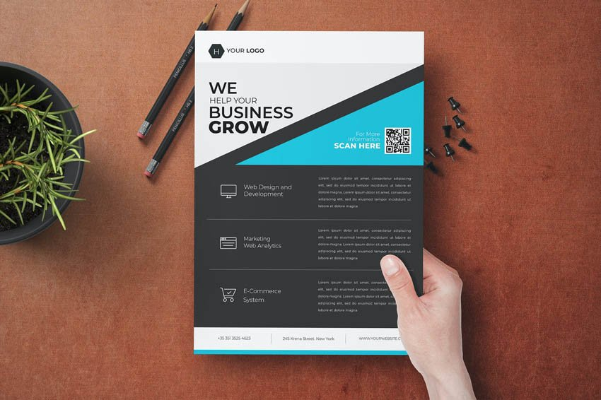 Minimal Flyer Design for Business