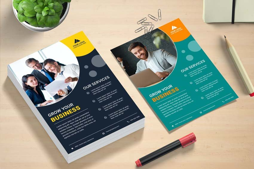business flyer design circles