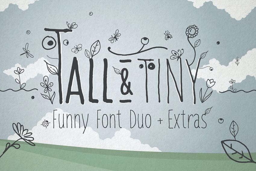 Tall  Tiny Font Duo