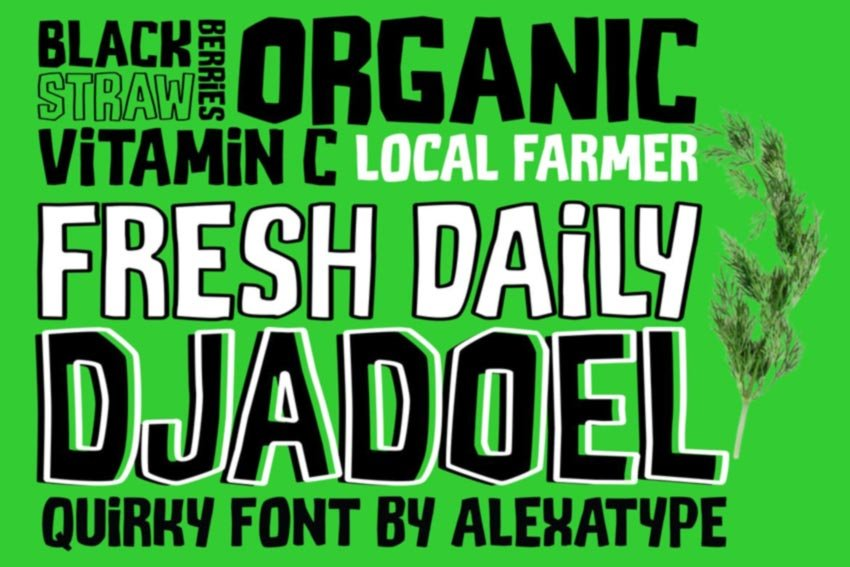 DJADOEL Quirky All Caps Font