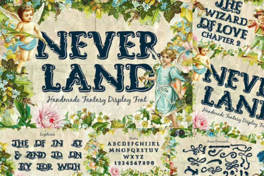 Neverland Fantasy Display Serif Vintage Font