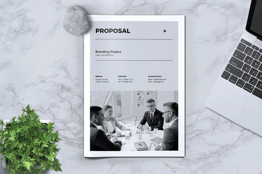 graphic design proposal template InDesign file
