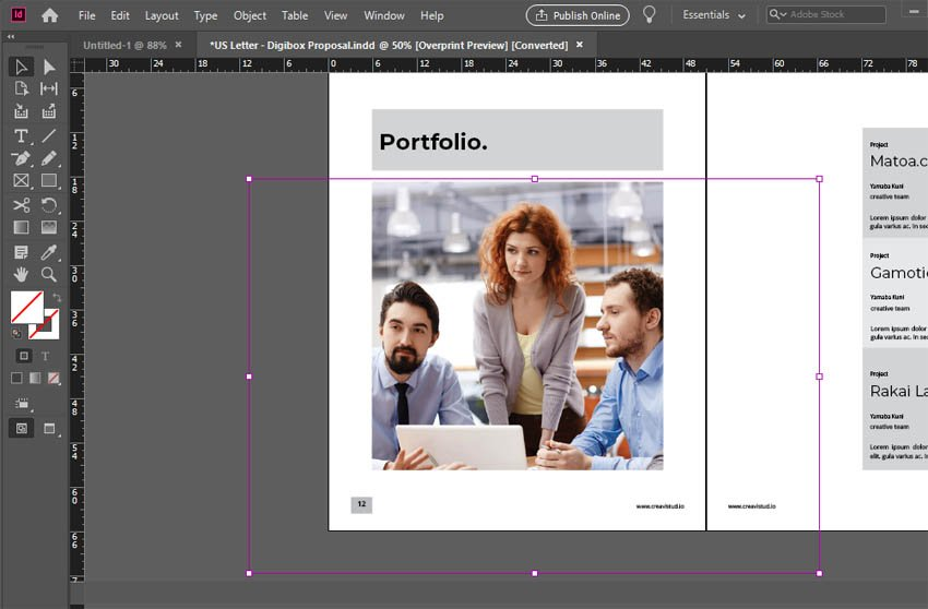 InDesign Image Place
