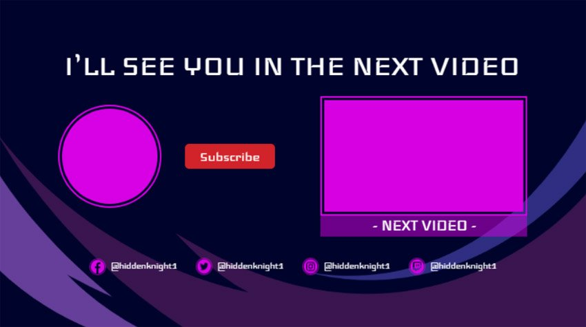 Simple YouTube End Screen Template Maker
