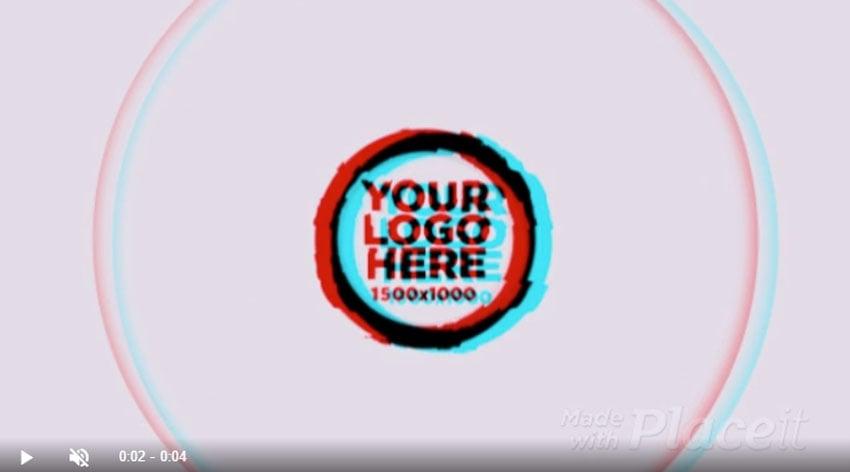 Glitch Animated Logo Maker Template