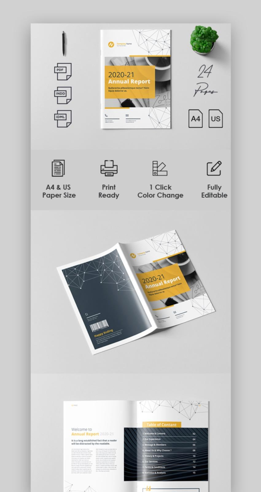 Professional Annual Report Template