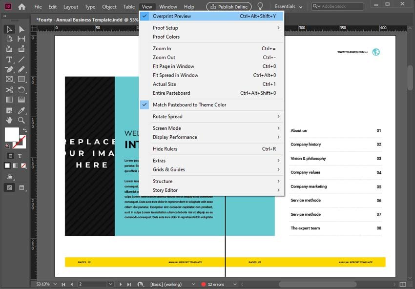 InDesign Rectangular Frame