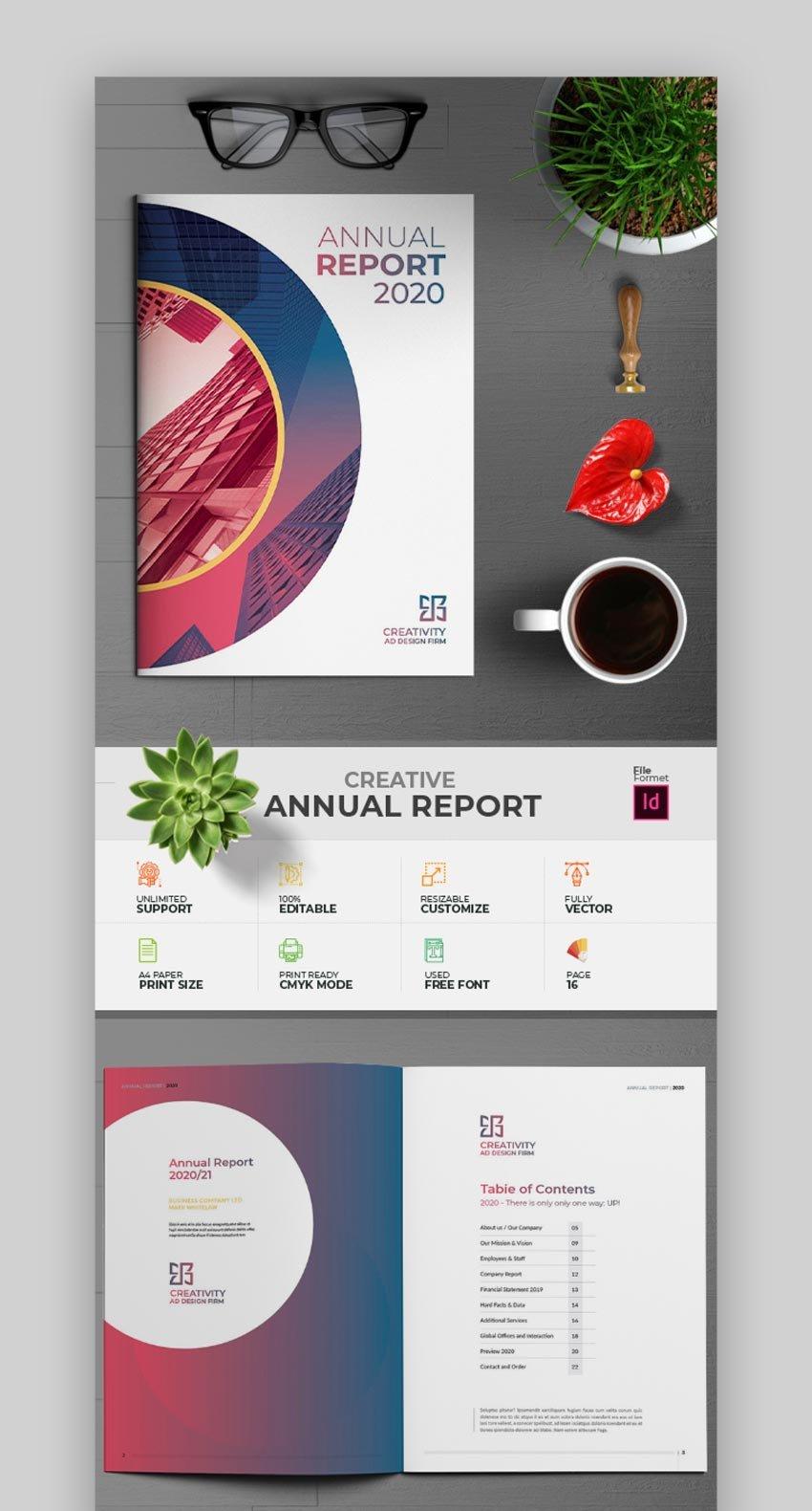 Nonprofit Annual Report Template InDesign