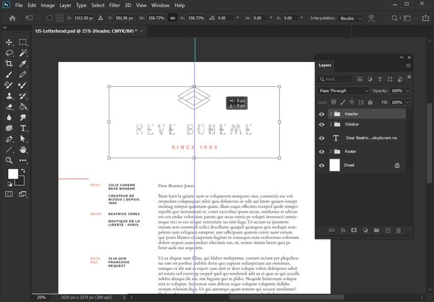 Transform in Adobe Photoshop