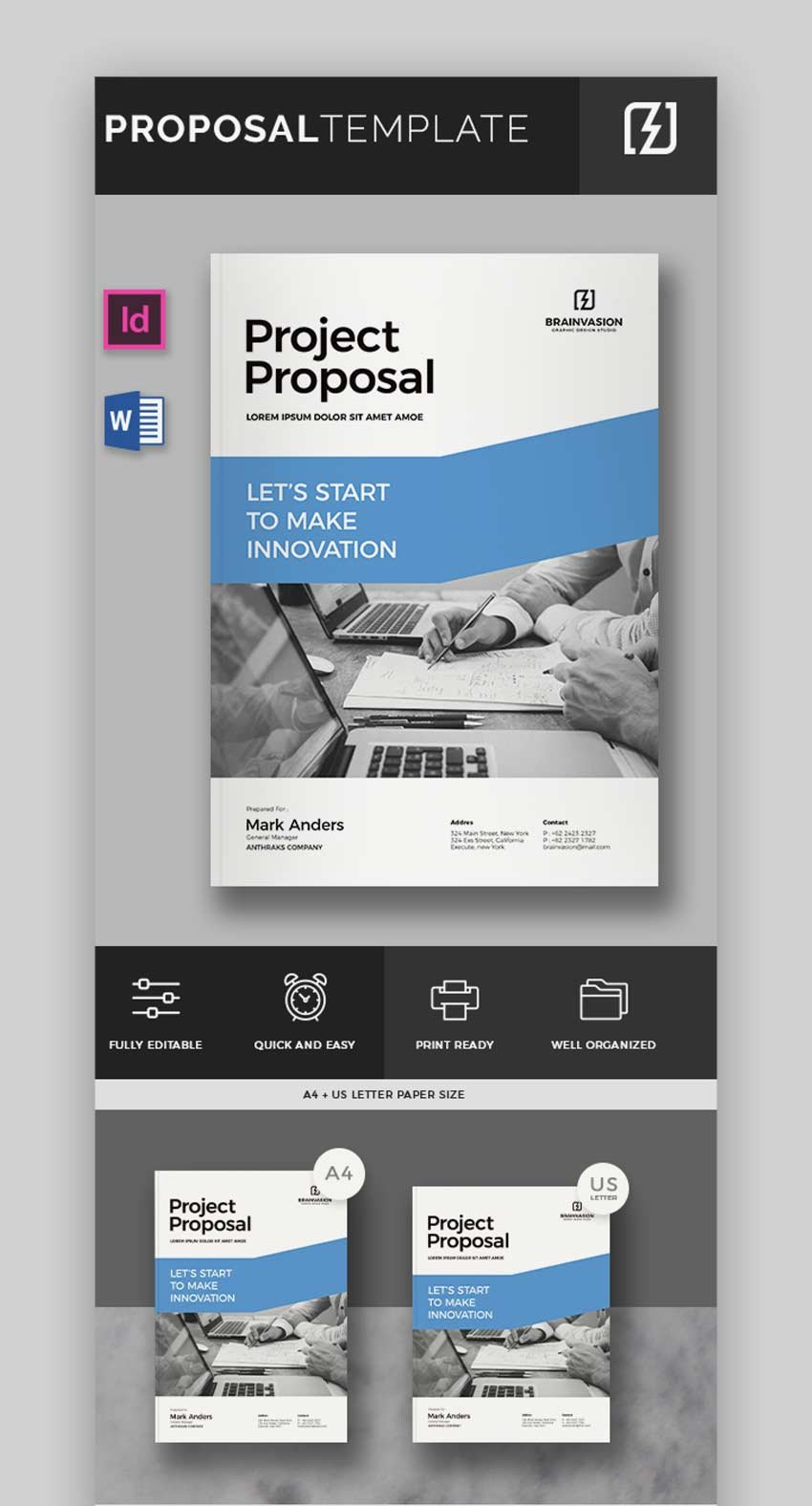 Proposal Template - InDesign and Microsoft Word