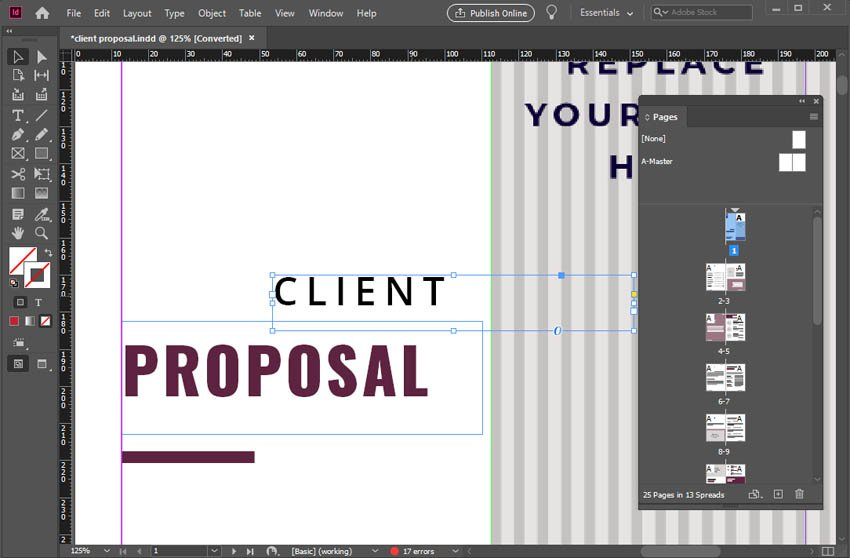 Move Objects in InDesign