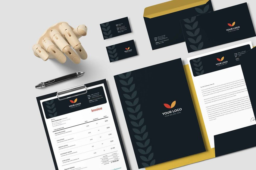 elegant business stationery set designs
