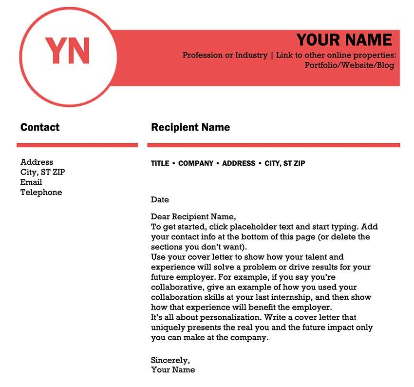 Polished Cover Letter Design