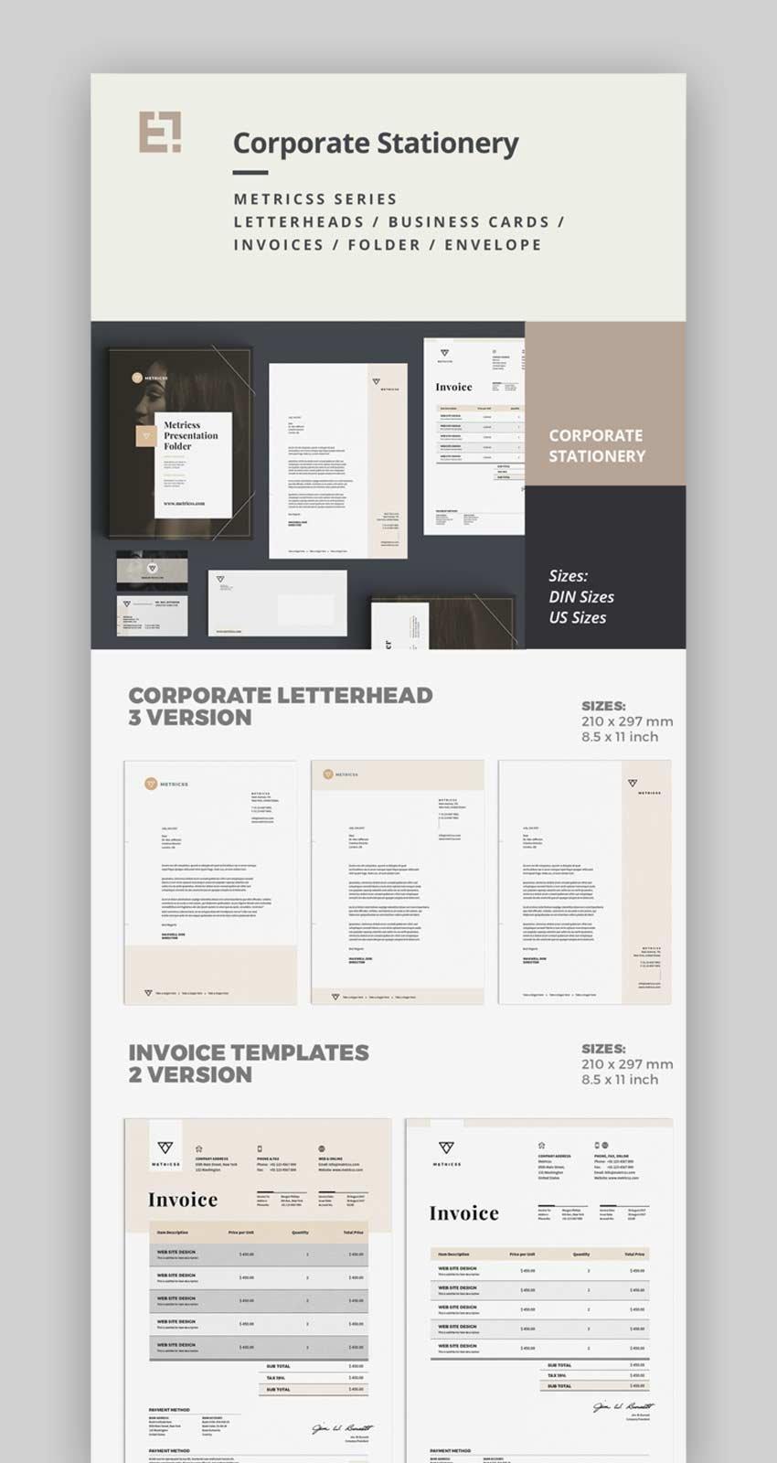 Elegant Corporate Business Stationery Design Set