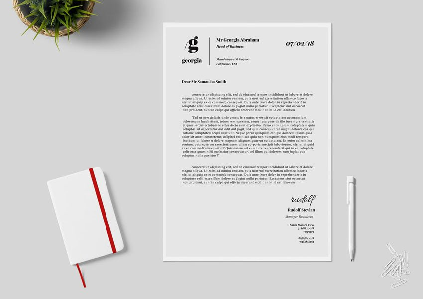 black and white aesthetic stationery