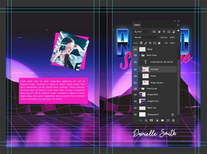 photoshop book cover template design