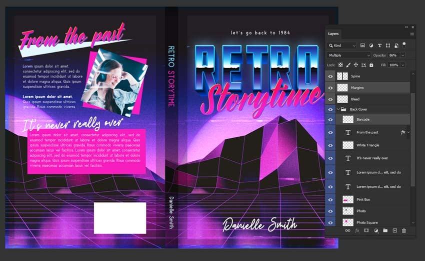 book cover design barcode