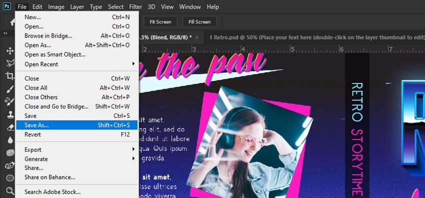 book cover design photoshop save