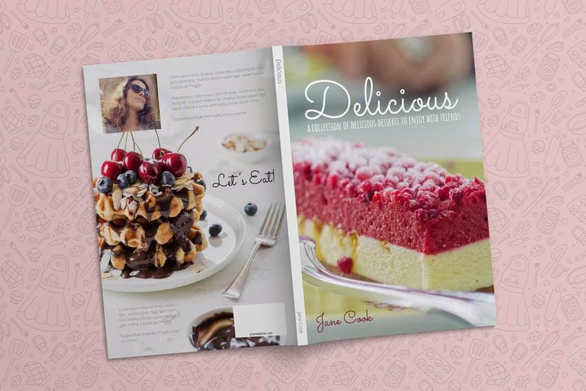 Cook Book Cover Design Template