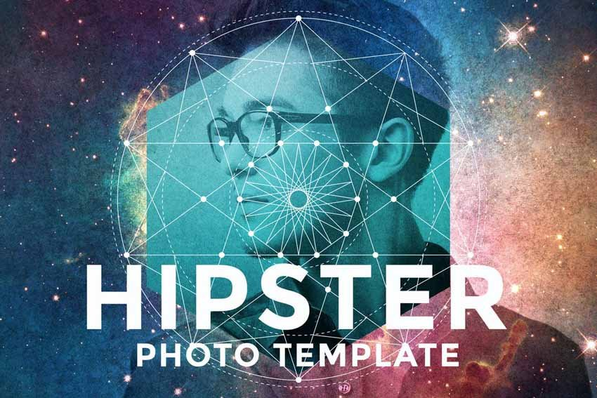Hipster Colorful Photo Template Book Cover Ideas