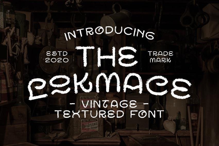 Lockmace Chalkboard Font Alphabet
