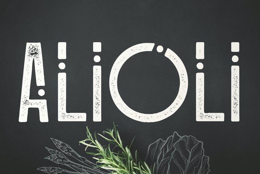 Alioli Chalk Lettering Font