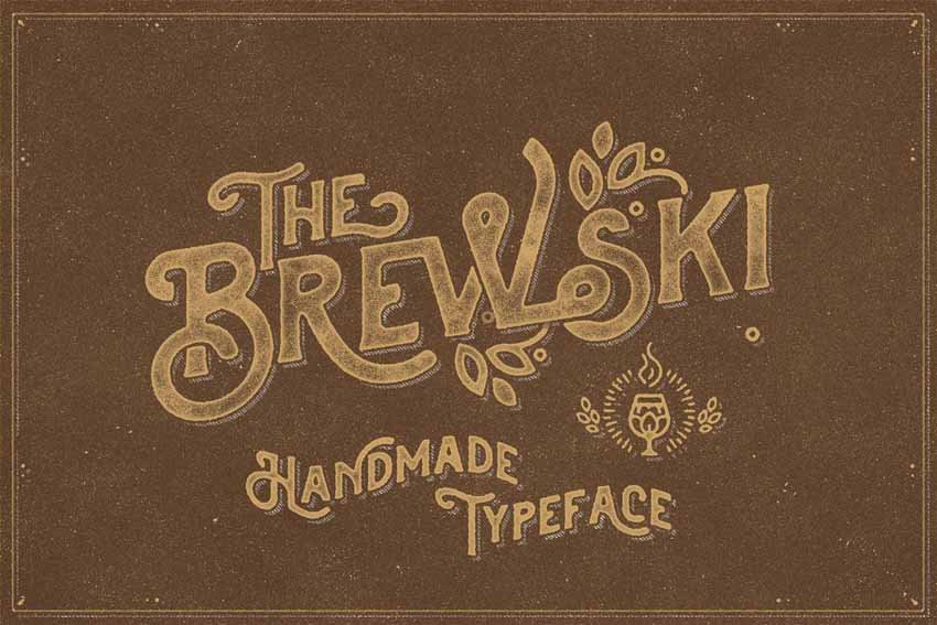 The Brewski Handmade Chalk Writing Font