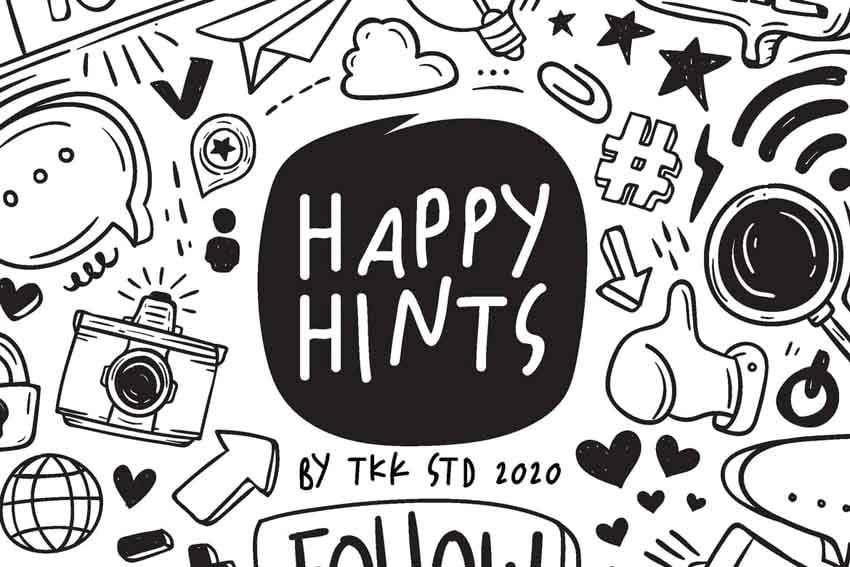 Happy Hints Chalk Handwriting Font