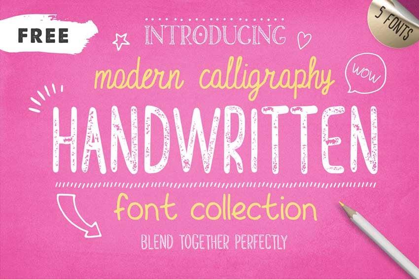 Free Handwritten Font Collection