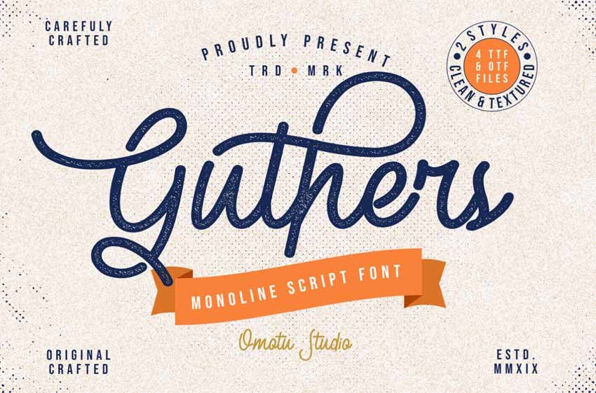 Guthers Free Font